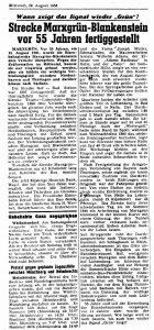 Marxgrün - Blankenstein vor 55 Jahren fertiggestellt