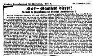 Hof - Saalfeld direkt 1932