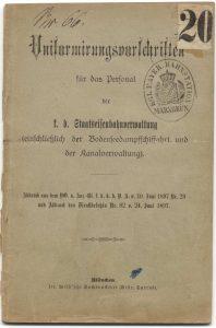 Uniformierungsvorschriften 1897 Bahnhof Marxgrün