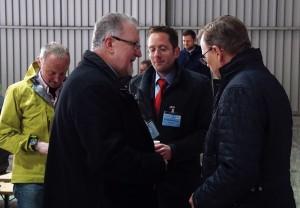Dr. Sieghard Rennert Logistikleiter ZPR, Christian Sörgel Betriebsleiter ZPR und MP Ramelow