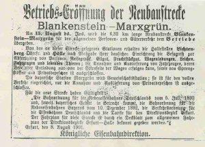 Neubaustrecke Blankenstein-Marxgrün