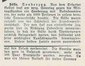 Sonderzug in Hölle 1935